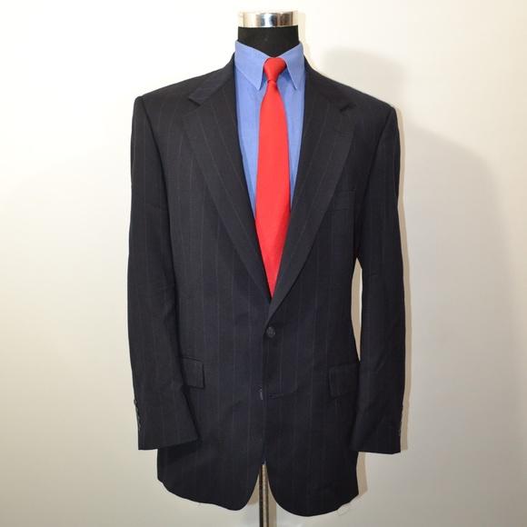 Stafford Other - Stafford 42R Sport Coat Blazer Suit Jacket Navy Pi